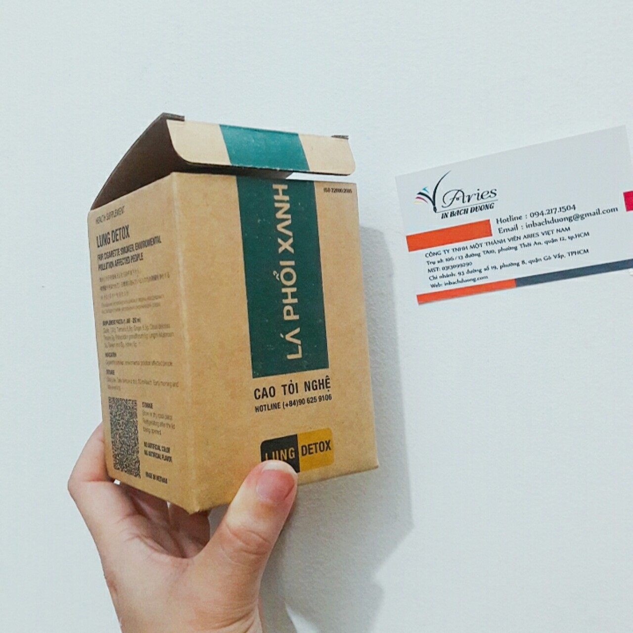 In hộp giấy carton nhỏ